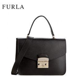 Furla 芙拉METROPOLIS系列 女士纯皮手提单肩锁扣包 多色可选 洲际速买