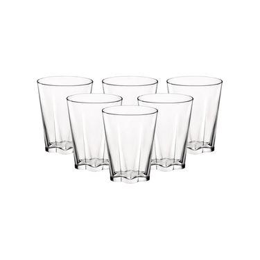 BORMIOLI ROCCO 【意大利进口】合益玻璃水杯果汁杯泡茶杯 透明300ml*6只