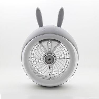 艾芭莎 萌宠喷雾USB风扇迷你可充电便携式学生宿舍加湿器空调小风扇