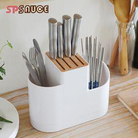 SP SAUCE 日本刀架刀座 厨房多功能置物架  筷子筒 刀具架