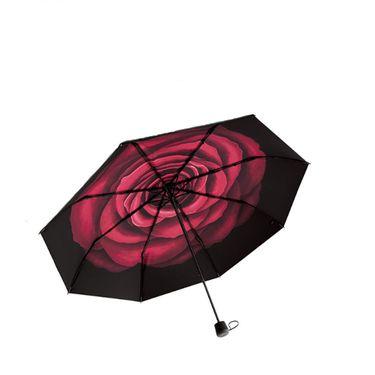 蕉下 BANANAUNDER18款防晒小黑伞折叠晴雨伞女防紫外线三折伞(绒羽)