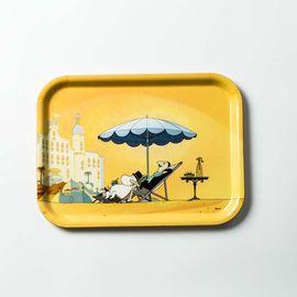 Opto Design 瑞典原产姆明系列木质托盘餐盘果盘 日光浴姆明