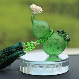 爱蚁 AX-5 车载香水座 葫芦出入平安汽车琉璃水晶香水摆件创意车内装饰品