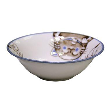 MORITOKU 日本进口水晶猫家用陶瓷卡通餐具日式创意4.0寸碗 TCW-MS17