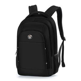 君华仕GENVAS 君华仕苹果电脑包 标准护脊双肩包 简约休闲背包耐磨防泼水学生书包 S157301 15英寸黑色