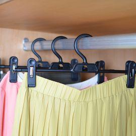 NISHIKI LEC 日本裤架 裤夹 衣架 晾衣架 晒衣架 裙子架 3个装