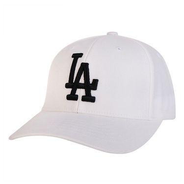 MLB 棒球帽LA道奇男女纯白黑标鸭舌 32CPIF741-07W