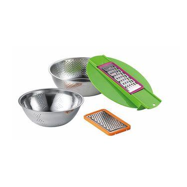 Debo德铂 卡普尔 厨房用具套装DEP-205(22cm料理盆+24cm料理盆+2个刨丝器)