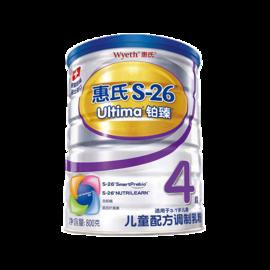 惠氏 Wyeth 铂臻学儿乐奶粉4段 (3-7岁)儿童配方调制乳粉 800克 3-7岁学龄前