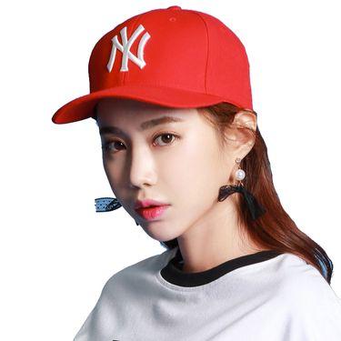 MLB 棒球帽纽约洋基队 男女通用中国红鸭舌帽旅游休闲帽子32CPIF741-50R