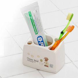 CHANG SIN LIVING 韩国进口卡通牙刷架 洗漱品收纳盒 牙膏收纳架 牙具架