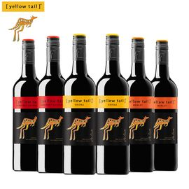 黄尾袋鼠 西拉梅洛加本力红葡萄酒750mlX6组合装红酒
