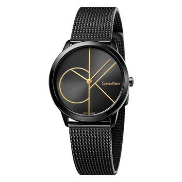 Calvin Klein 卡文克莱(ck)手表 男女士个性CK大logo石英表时尚休闲防水编织钢带情侣对表