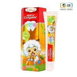 高露洁Colgate 妙妙刷2-5岁乳牙期儿童牙膏 香橙味 40g 新老包装随机发货