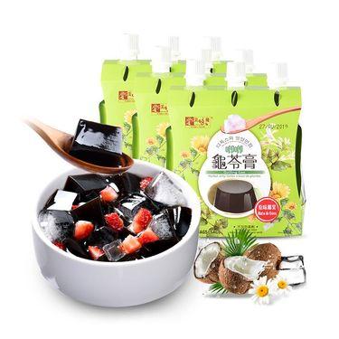 美味栈 唧唧龟苓膏250g*9袋 果冻布丁休闲零食特产 【原味椰果】