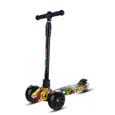 鹭炫 可折叠卡通版儿童滑板车三轮玩具车闪光轮踏板车