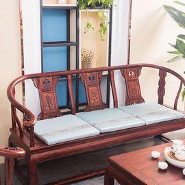 宝瑞祥 珍珠冰丝实木沙发垫 立体款式 珍珠-兰/粉