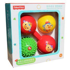 费雪 牌 新生儿训练球礼盒锻炼套装宝宝手抓捏捏球玩具弹力皮球