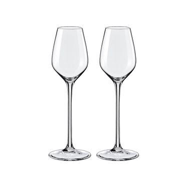 RONA 【洛娜】普雷斯水晶玻璃利口杯威士忌杯95ml*2只