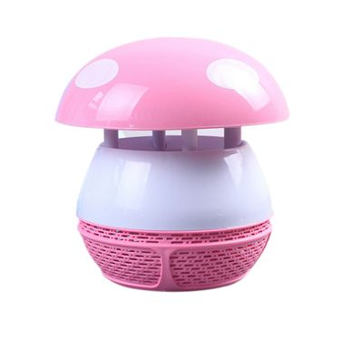 (GESOBYTE)吉选 WM-52无辐射吸入式蘑菇型驱蚊灯LED捕蚊器 光触媒灭蚊灯 粉色