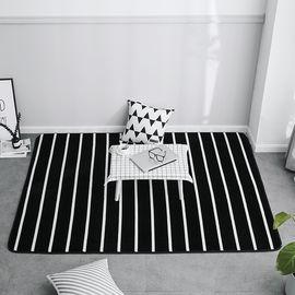 卡佩利丝  2018新款绒地垫-条纹(多规格可选)客厅地垫茶几垫飘窗垫YYJ