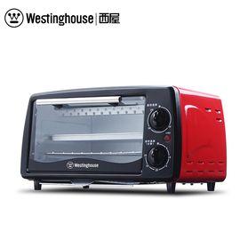Westinghouse/西屋 美国西屋 家用迷你电烤箱烘焙烤箱WTO-PC1201J时尚红12L