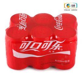 可口可乐 六连包 碳酸饮料 汽水 330ml*6 新老包装随机发放