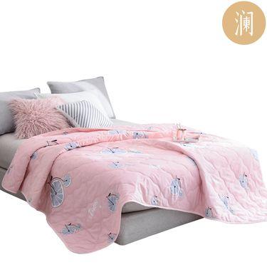 凯俪澜 水洗芦荟棉夏凉被 粉色车轮系列(1.5米/1.8米/2米适用)