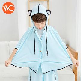 VVC 2018新款夏季儿童防晒衣斗篷防紫外线熊猫外套户外防晒服