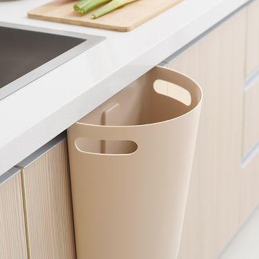 SP SAUCE 日本厨房垃圾桶塑料半圆形可挂式酒店垃圾桶加厚塑料