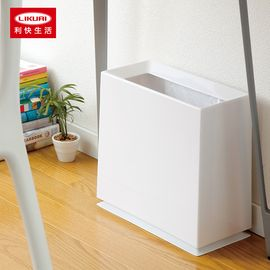 LIKUAI/利快 ideaco日式垃圾桶8.5L方形按压触摸式双内桶