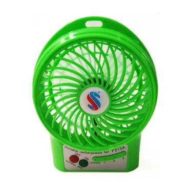 致奥 可充电小风扇 夏季办公学生旅游便携迷你多功能风扇 电脑小风扇【送电池】