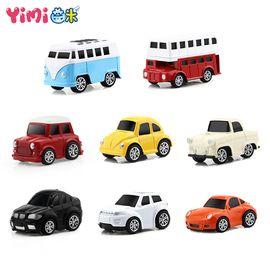 益米 合金回力车816B-45 炫酷跑车 巴士 轿车仿真汽车模型 宝宝儿童玩具男孩玩具汽车(随机发货) 惯性滑行