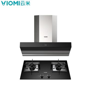 VIOMI 云米烟灶互联套装Cross套餐   21立方米瞬吸式家用智能抽油烟机燃气灶