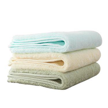 梦特娇 Montagut梦特娇阿瓦提新疆长绒棉毛巾3条装 纯棉素色加厚耐用吸水