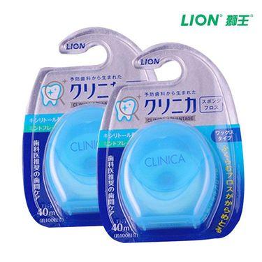 狮王 LION/狮王 2个装 马来西亚进口牙线 CLINICA 尼龙质 遇水膨胀牙线