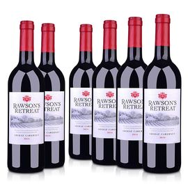 奔富 也买酒 澳洲进口红酒 洛神山庄西拉赤霞珠干红葡萄酒750ml*6支装