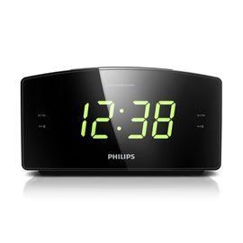 飞利浦 AJ3400 大屏幕床头时钟 双闹钟收音机 FM数码调频