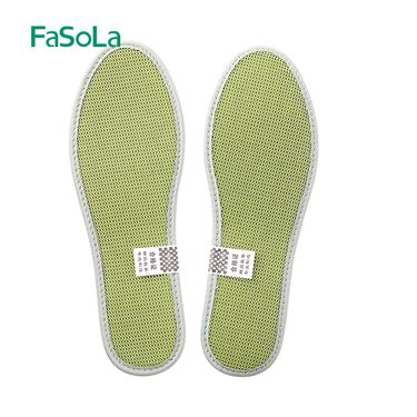 FASOLA 防臭竹炭鞋垫男吸汗透气 夏运动皮鞋小白鞋帆布鞋鞋垫女薄软