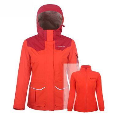 探路者 TOREAD 户外女式三合一套绒冲锋衣 TAWE92911 防风 防水 透气