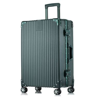 WRC 金丝拉面静音耐磨时尚包角万向轮铝框拉杆箱旅行箱 W-6028