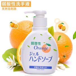 inomata 日本进口洗手液 滋润型洗手液 弱酸性香橙味200ML清洗液 洗手剂