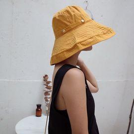 柔系 可折叠防晒渔夫帽 夏季防晒遮阳帽 大檐盆帽
