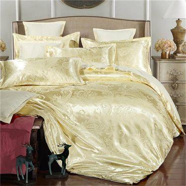 好暖 床上用品套件 贡缎提花四件套床单被套婚庆床品