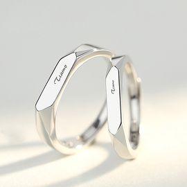 Raeke瑞珂 情侣戒指一对 男女s925纯银饰品对戒活口指环