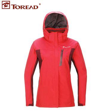 探路者 冲锋衣 户外情侣男女款三合一透湿保暖外套冲锋衣  女款KAWF92604