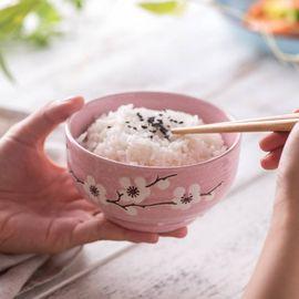 微浪 彩色陶瓷碗家用套装釉下彩碗筷米饭碗餐具六套装