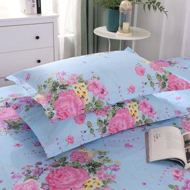 洁帛 斜纹印花四件套 适合1.5米和1.8米床通用(多色可选)