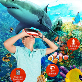 费雪 小V博士 (View Master)益智玩具 虚拟现实玩具眼镜 DLL68(限时赠送恐龙世界场景1套)