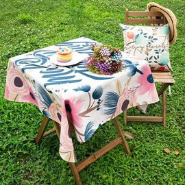 范居态度 田园美式花卉餐桌布艺台布加厚茶几布客厅餐厅书桌多用盖巾布 D款